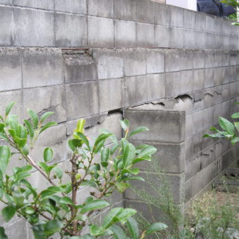 ブロック塀の改修工事